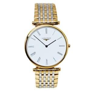 ساعة يد رجالية لونجين لا غراند كلاسيك دو لونجينز أل47092117 ستانلس ستيل لونين 33 مم