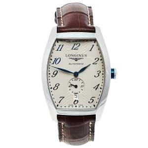 ساعة يد رجالية لونجين إفيدنزا L2.642.4.73.4 أوتوماتيك ستانلس ستيل فضية 33مم