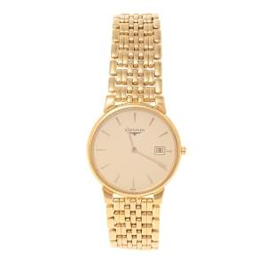 Longines Champagne Gold Plated Stainless Steel Grande Classique L56322 Men's Wristwatch 33 mm