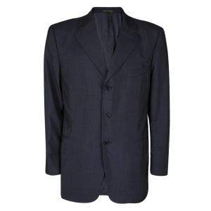 Loro Piana Navy Blue Wool Renoma Blazer 3XL