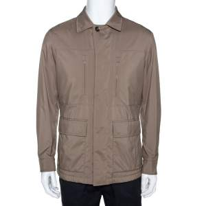 Loro Piana Ecru Synthetic Cashmere Lined Traveller Jacket S