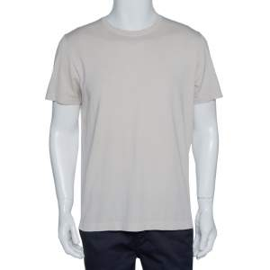 Loro Piana Light Beige Cotton Crew Neck T-Shirt L