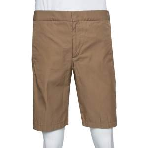 Loro Piana Brown Cotton Bermuda Shorts L
