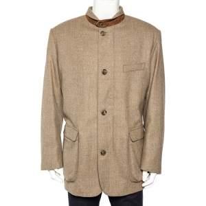 Loro Piana Storm System Beige Wool & Cashmere Jacket XXL