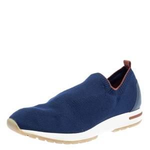 Loro Piana Blue Knit Fabric Flexy Walk Sneakers Size 43