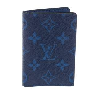 Louis Vuitton Cobalt Monogram Coated Canvas Taïgarama Pocket Organizer