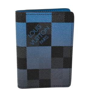 Louis Vuitton Blue Damier Graphite Giant Canvas Pocket Organiser