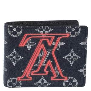 Louis Vuitton Ink Monogram Canvas Upside Down Multiple Bifold Wallet