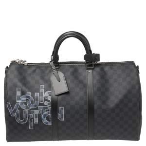 Louis Vuitton Damier Graphite Canvas Keepall Bandouliere 50 Bag