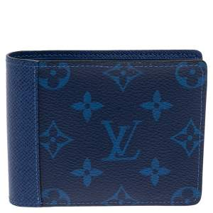 Louis Vuitton Monogram Pacific Canvas and Taiga Leather Multiple Wallet