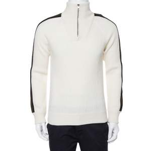 Louis Vuitton Cream Wool & Cashmere Turtleneck Sweater M