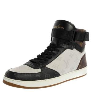 Louis Vuitton Tri color Monogram Canvas Rivoli Sneaker Boot Size 43