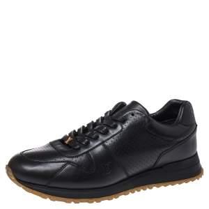Louis Vuitton x Supreme Black Leather Run Away Low Top Sneakers Size 42