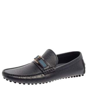 Louis Vuitton Blue Leather Hockenheim Loafers Size 41