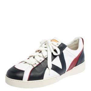 Louis Vuitton Multicolor Leather Lace Up Low Top Sneakers Size 44