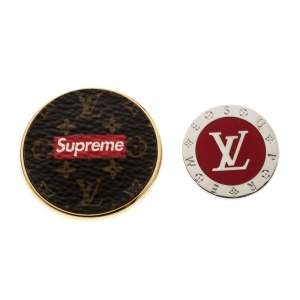 Louis Vuitton x Supreme Set of 2 Pin Brooch