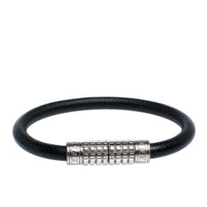 Louis Vuitton Taiga Leather Digit Palladium Plated Bracelet