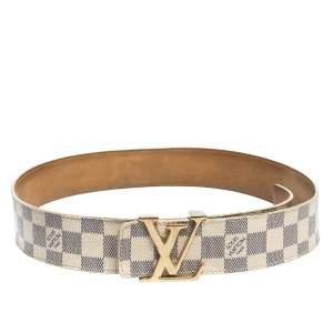 Louis Vuitton Damier Azur Canvas LV Initiales Belt 85CM