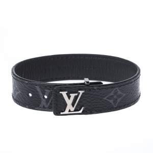 Louis Vuitton Eclipse Monogram Coated Canvas Slim Bracelet Size 21