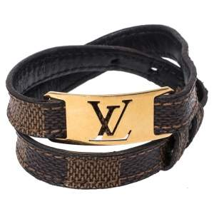 Louis Vuitton Damier Canvas Sign It Double Wrap Bracelet 19 CM