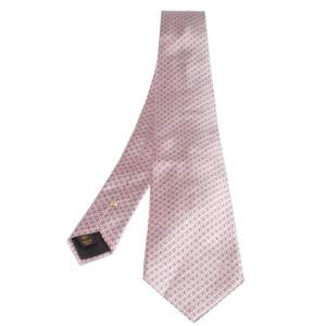 Louis Vuitton Pink Silk Jacquard Tie