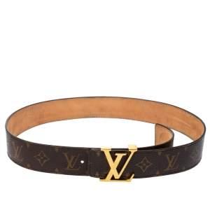 Louis Vuitton Mongoram Canvas Initiales Buckle Belt 80CM