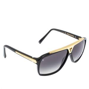 Louis Vuitton Black / Grey Gradient Z0350W Evidence Square Sunglasses