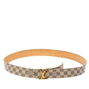 Louis Vuitton Damier Azur Canvas LV Initiales Belt 110CM