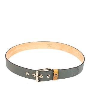 Louis Vuitton Monogram Canvas Titanium Voyager Belt 95CM