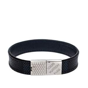 Louis Vuitton Black Damier Ebene Pull It Bracelet