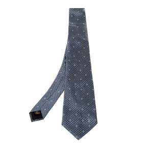 Louis Vuitton Grey Monogram Silk Tie
