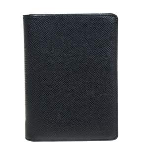 Louis Vuitton Black Taiga Leather Passport Cover