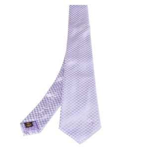 ربطة عنق لوي فيتون حرير بنفسجي بيتي دامييه