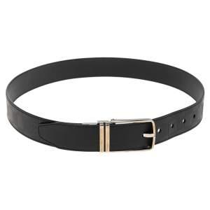 Louis Vuitton Black Damier Inifini Leather Boston Reversible Belt 90CM