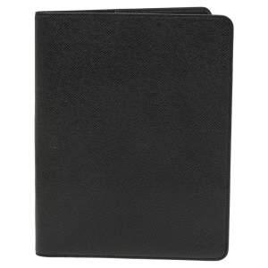 Louis Vuitton Black Taiga Leather Desk Agenda Cover