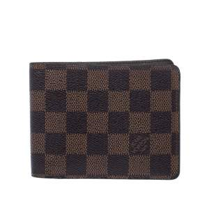 Louis Vuitton Damier Ebene Canvas Multiple Bifold Wallet