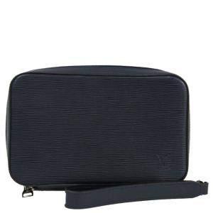 Louis Vuitton Navy Blue Epi Leather Dandy Wallet