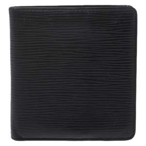 Louis Vuitton Black Epi Leather Multiple Wallet