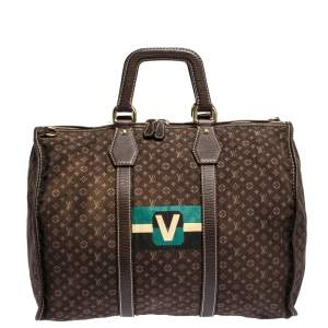 Louis Vuitton Monogram Mini Lin Initiales Keepall Bag