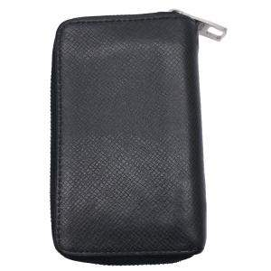 Louis Vuitton Black Taiga Leather Zippy Coin Wallet