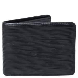 Louis Vuitton Black Epi Leather Slender Wallet