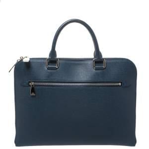 Louis Vuitton Blue Ardoise Taiga Leather Slim Document Briefcase