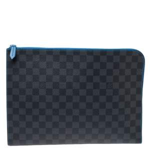 Louis Vuitton Blue Damier Graphite Canvas Pochette Jour GM