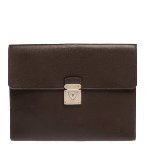 Louis Vuitton Brown Taiga Leather Minuto Portfolio Case