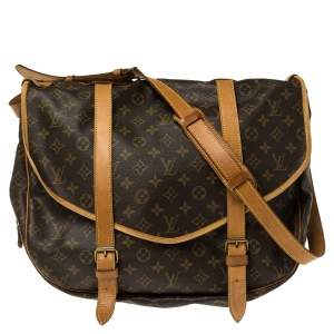 Louis Vuitton Monogram Canvas Saumur 43 Bag