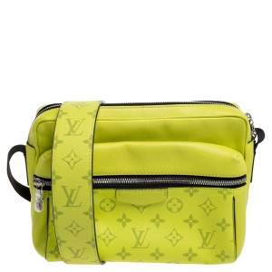 Louis Vuitton Jaune Monogram Eclipse Canvas and Tiaga Leather Outdoor Messenger Bag