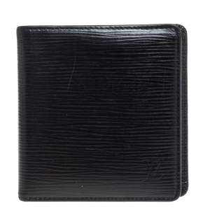 Louis Vuitton Black Epi Leather Slender Wallet