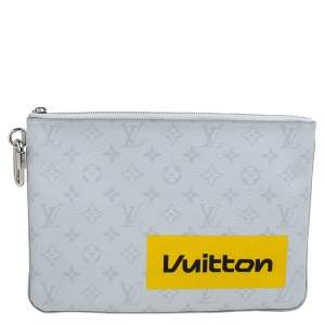 Louis Vuitton White Monogram Zipped Pouch GM