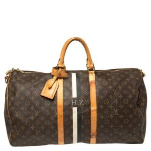 Louis Vuitton Mon Monogram Canvas Keepall Bandouliere 55 Bag