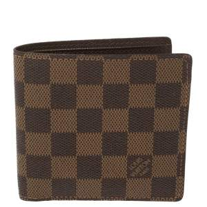 Louis Vuitton Damier Ebene Canvas Marco Wallet